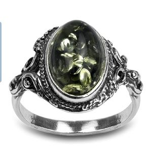 Green Yellow Amber ring